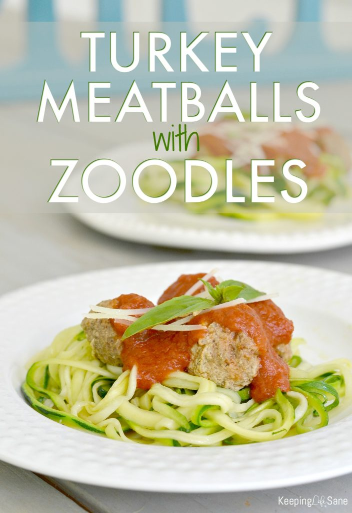 You'll want to save this recipe for quick turkey meatballs over zucchini noodles. It's a fun way to eat your veggies!