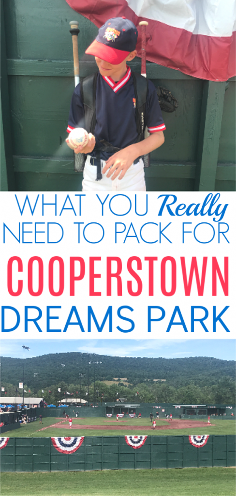 Headed to Cooperstown this summer? You've already spent a fortune to get there so here's the Cooperstown Dreams Park player packing checklist on a budget.