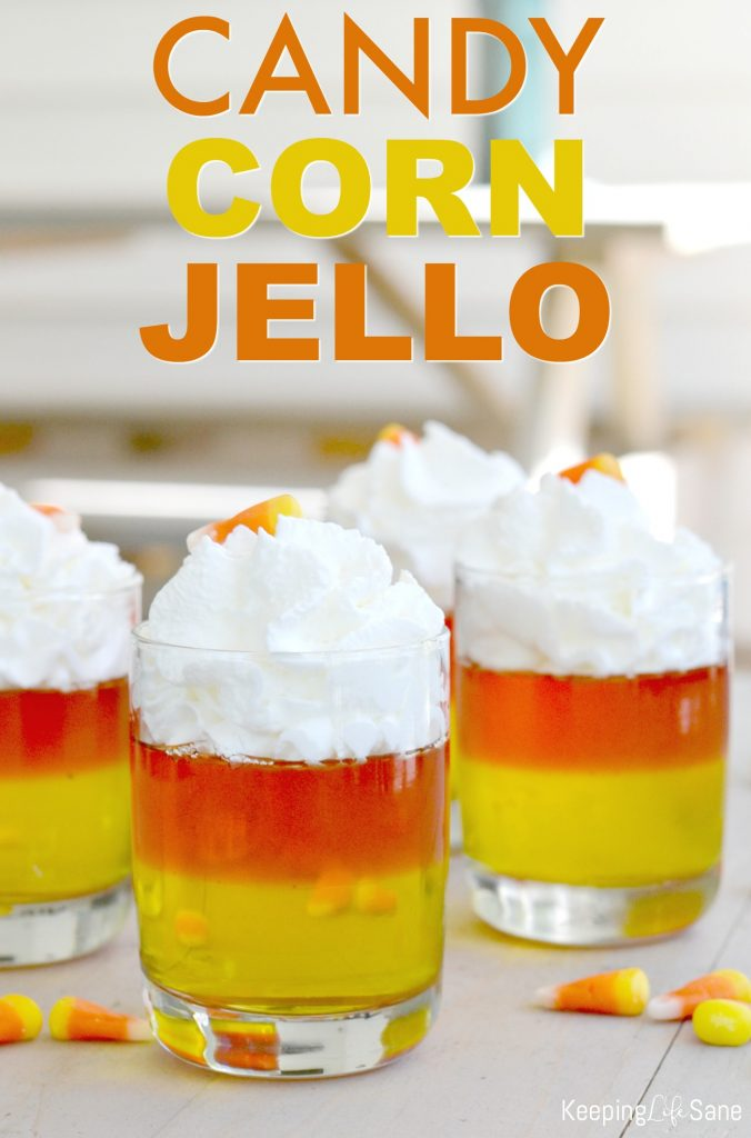 This fall dessert is great AND inexpensive! Try making these easy candy corn jello cups for kids. Don't forget to add them to your grocery list.