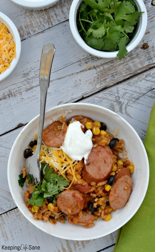 Who doesn't love a quick meal and easy recipe? This 30 minute Mexican sausage casserole is perfect for those busy school nights.