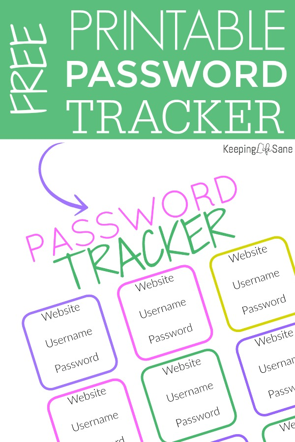 Are all your passwords getting out of control? Mine too! Here's a cute FREE printable password keeper to help you stay organized.