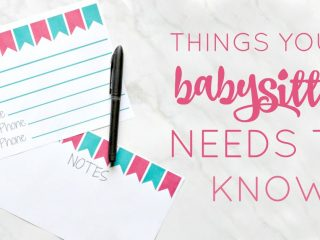 You may be wondering what things your babysitter needs to know before you leave the house & how to organize it all. Don't forget to grab this great printable too!