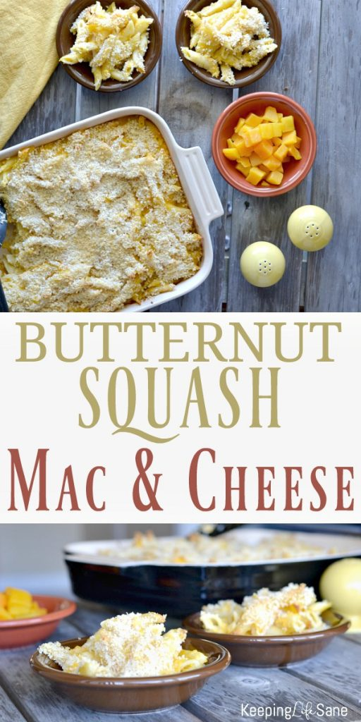 It's fall and that means delicious butternut squash mac and cheese. Butternut squash has such a mild taste and goes perfectly in this side dish.