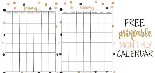 Grab this free printable monthly calendar and get organized. The dots are so cute and you can write down and remember all of your commitments.