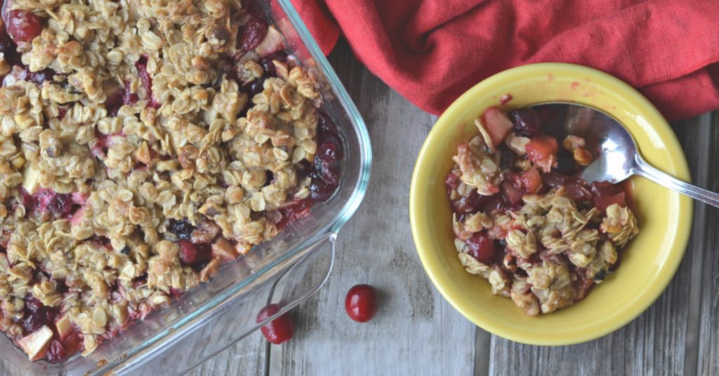 You are going to die for this baked cranberry crisp. It's perfect for fall and the holidays.