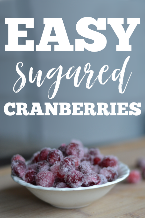 These EASY sugared cranberries are the perfect treat for Thanksgiving or Christmas. Make them ahead of time and pull them out to snack on! #Thanksgiving #Thanksgivingrecipe #Christmas #Christmasrecipe #cranberries #SugaredCranberries #Easyholidayfood #holidaymeal #Christmasdinner #Thanksgivingdinner