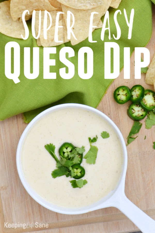Who doesn't love cheesy dip? This super easy three cheese queso dip is a family favorite. Make sure to save it because you'll make it again and again.