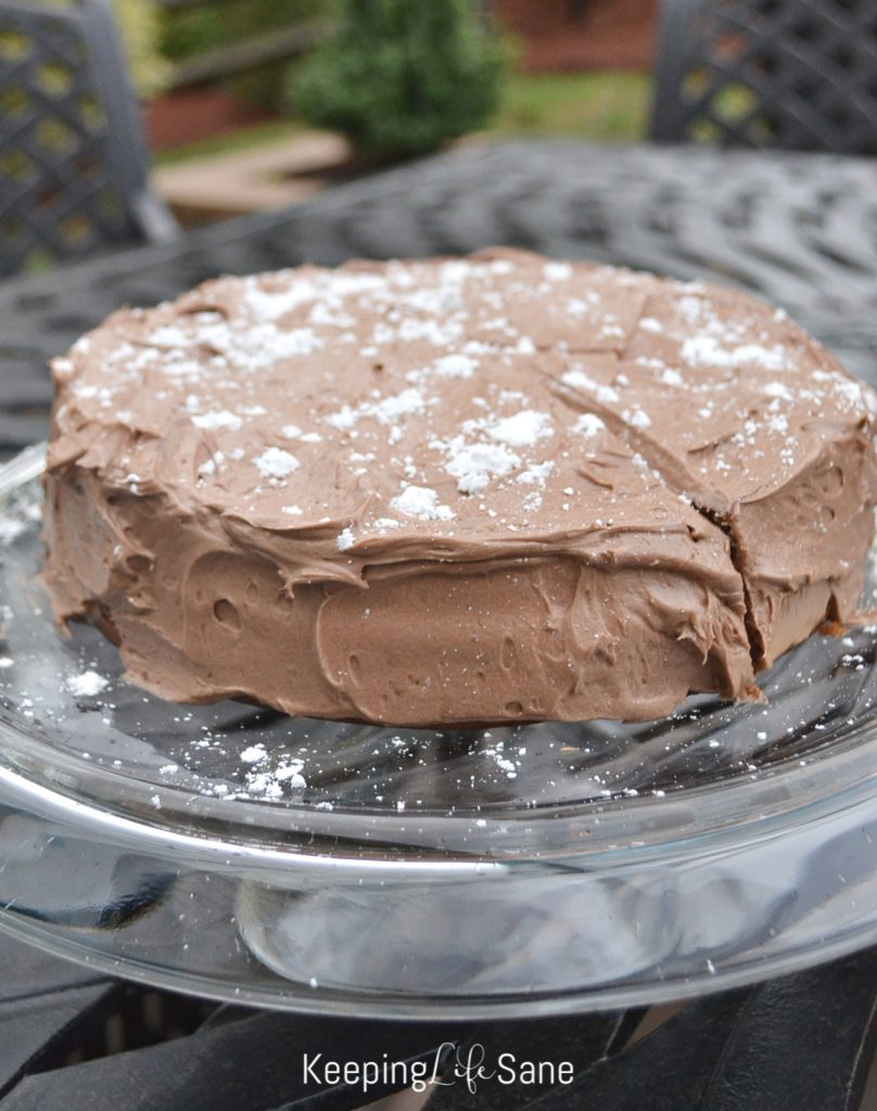 Here's a delicious and moist double layer EGG FREE CHOCOLATE BUTTERMILK CAKE. Perfect for any birthday or special occasion.
