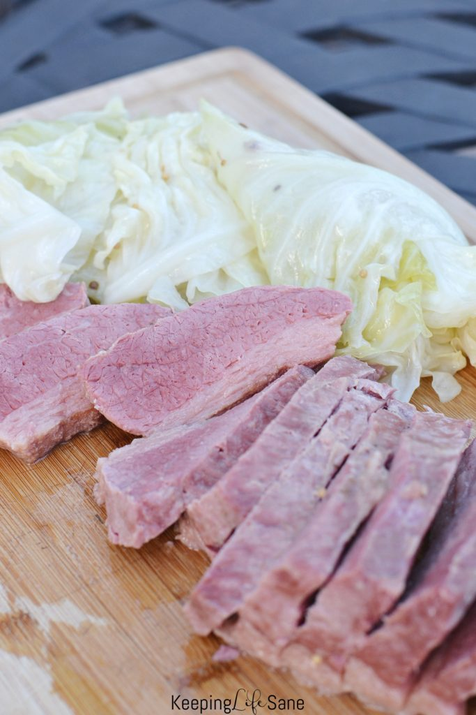 Corned Beef and cabbage isn't just a meal for St. Patrick's Day. We eat this delicious meal about once a month. It's a simple, one pot dish. #CornedBeef #Cabbage #CornedBeef #Dinner #Recipe #StPatricksDay #OnePotMeal #EasyDinner