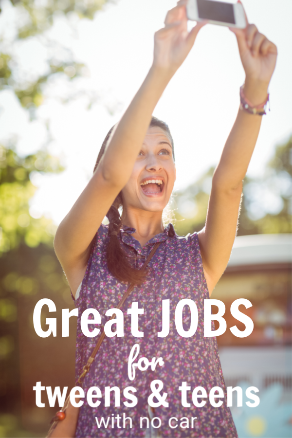 Does your kid want to get a job? Here's a great list of jobs for teens and tweens with no car to earn a few extra dollars for their wallet. #Tweens #Teens #Parentingteens #parentingteens #parentingtip #parenting #tweenjobs #Teenjobs #tweensearningmoney