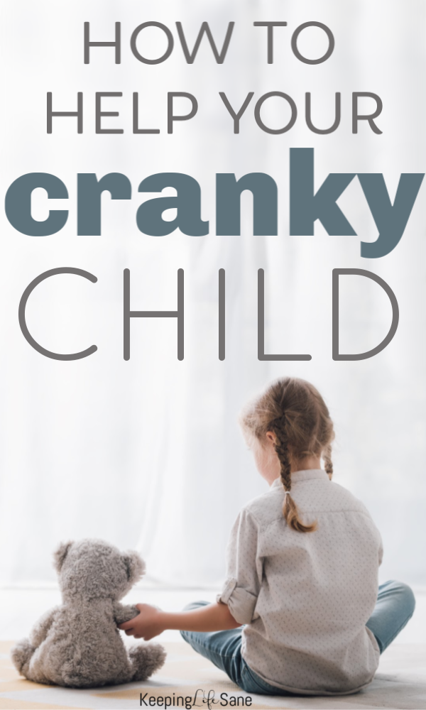 How do I help my cranky child? Well, try this one little trick and you can stop the crankiness! It really works and it's so easy! #parenting #parentingtip #BestParentingTipEVER #Cranky #CrankyKid #CrankyChild