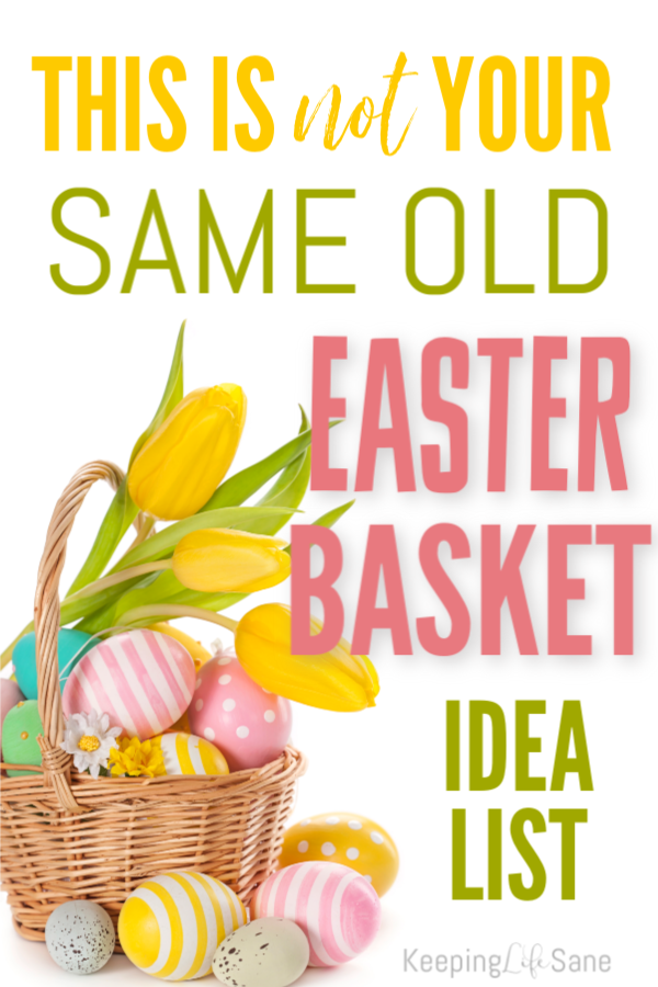 Are you looking for some new easy Easter basket ideas? Here are some good ones for both boys and girls. Plus, nothing on the list is candy!