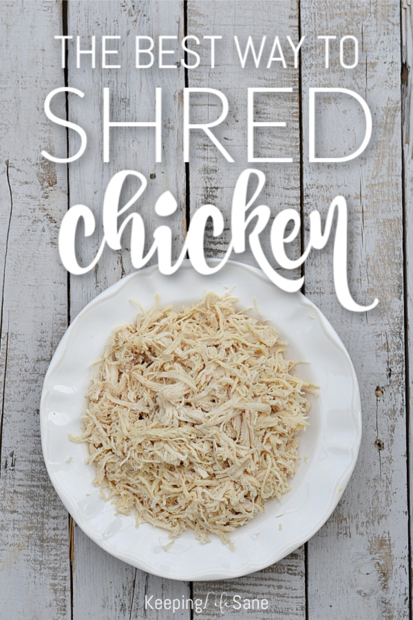 Shredded chicken is great in so many recipes and you'll want to learn this neat trick for the easiest way to shred chicken.