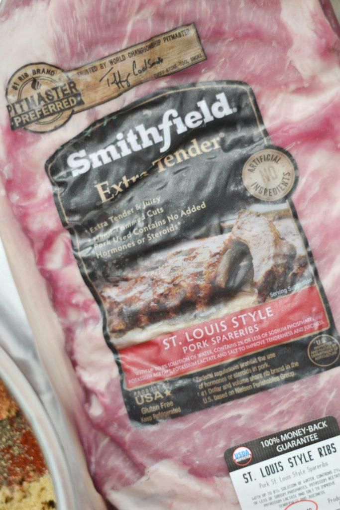 ribs in Smithfield packaging