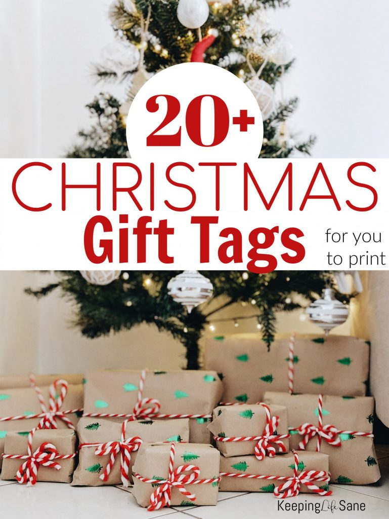 Did you run out of gift tags?  Here are the best FREE Christmas gift tags for you to print at home.  It will save you a trip out and money.