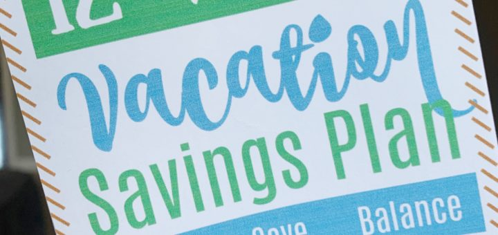 """You may be wondering, """"How do I save for vacation?"""" Learn about this REALISTIC vacation savings challenge. It's comes with a cute printable to help make saving easy."""