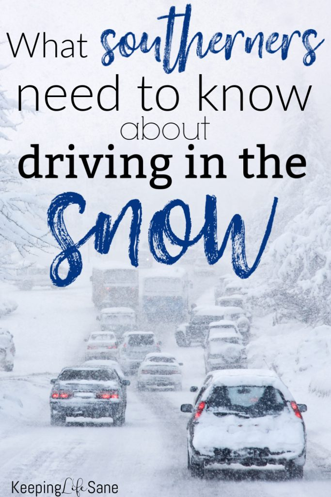Grab these essential winter driving tips for southerners and winter car survival kit info. You won't need it much down south, but you need to be ready.