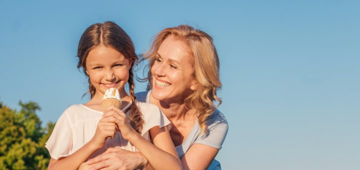 Try something new with your kids. It's fun for all ages. Why don't you eat ice cream for dinner tonight?