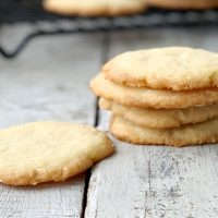 This is the best recipe for eggless sugar cookies EVER! This super easy and simple recipe only has 4 ingredients and perfect for every holiday!