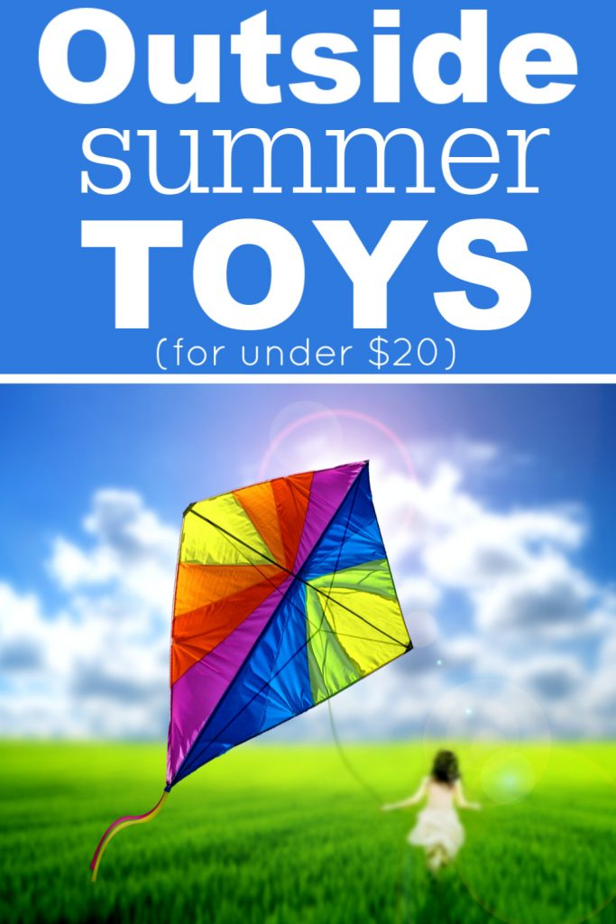 Here are some fun outside summer toys for your kids without spending a fortune! They're all under $20 and will keep your kids busy.