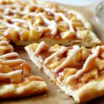 Beautiful view of apple pie pizza