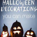 three halloween jack-o-lanterns with glowing lights