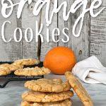 stack of orange cookies