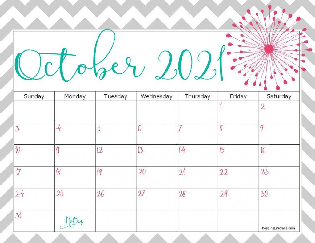Cute 2021 Printable Blank Calendars : Free Printable 2021 ...