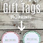 2 gift tags on wooden table