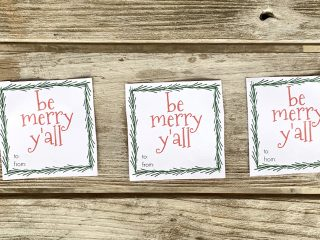 3 christmas gift tags