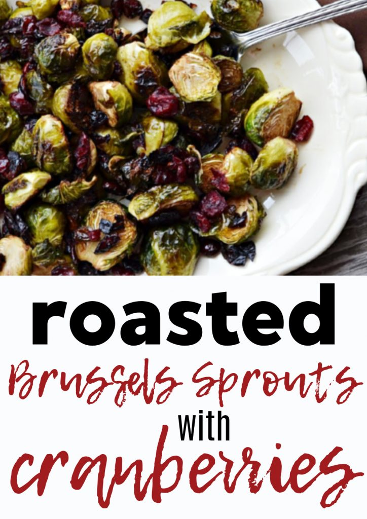brussels spouts with crasins in white bowl