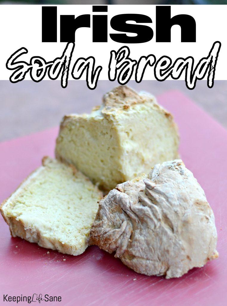 sliced soda bread on red mat